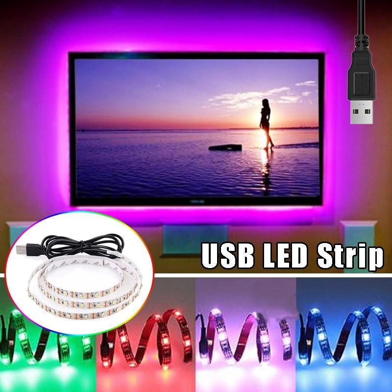 1M 3258 светодиодные полосы света ТВ фонового освещения дома партии DIY украшения света с USB источник питания фото
