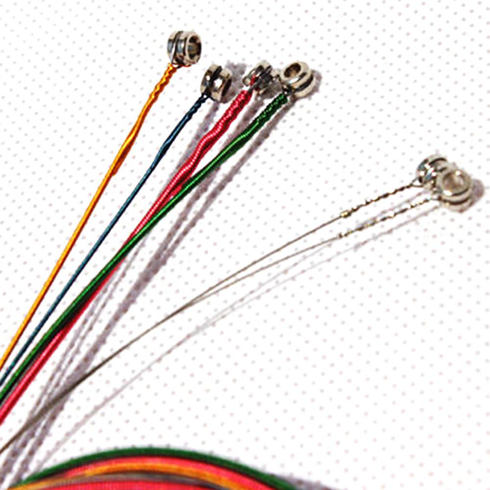6Pcs/Комплект Радуга цвета строки для аксессуар, акустическая гитара фото