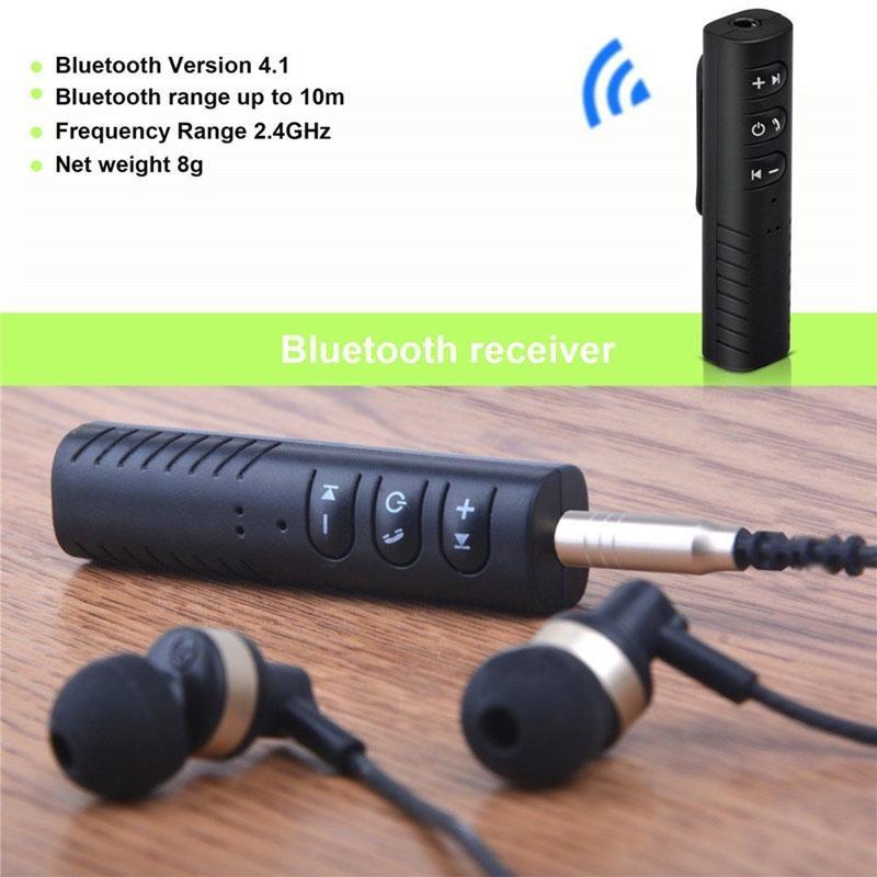 Bluetooth-приемник 4.2 Беспроводной Bluetooth приемник 3.5mm Джек Стерео Bluetooth Аудио Музыкальный приемник Адаптер фото