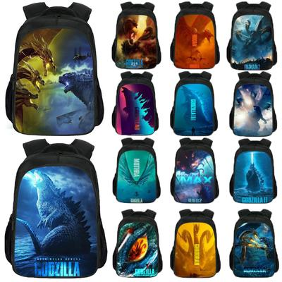 3D Godzilla Backpack Kids School Bag Students Boys Bookbag Handbag Travel Bag