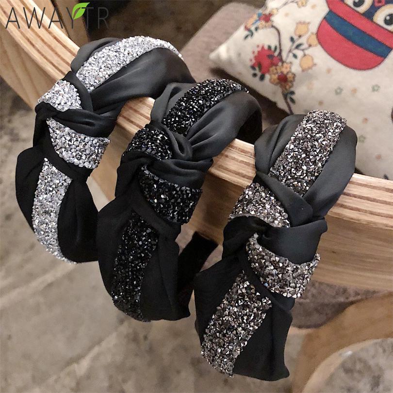 Women Vintage Headband Knotted Plaid Hairband Hair Hoops Girls Hair Accessories