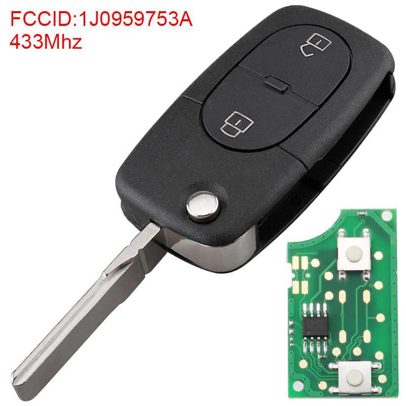 433Mhz 2 Кнопки автомобиль удаленного ключа Fob с ID48 Чип Подходит для VW Volkswagen / Passat / Golf MK4 – купить по низким ценам в интернет-магазине Joom