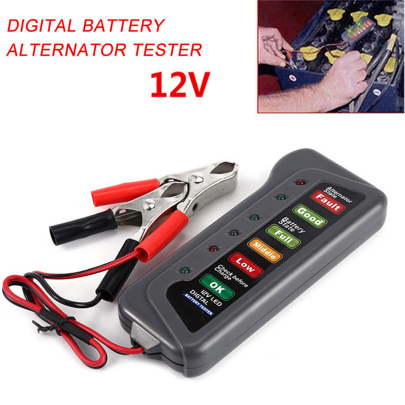 12 VOLT LED BATTERY /& ALTERNATOR TESTER