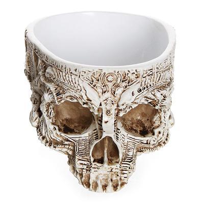 Hand Carved Skull Flower Pot Human Skull Bone Bowl Home Garden Decor Halloween Decoration Hzt Buy At A Low Prices On Joom E Commerce Platform