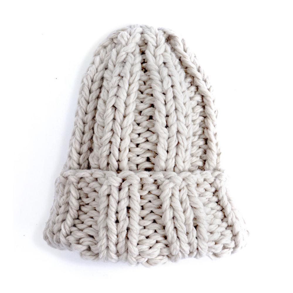 Las mujeres invierno costilla de punto grueso Cable de sombrero ...