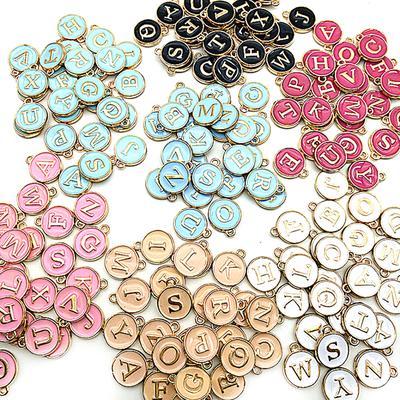 26Pcs//Lot A-Z Silver//Bronze Initial Alphabet Letter Charm DIY Handmade Jewelry