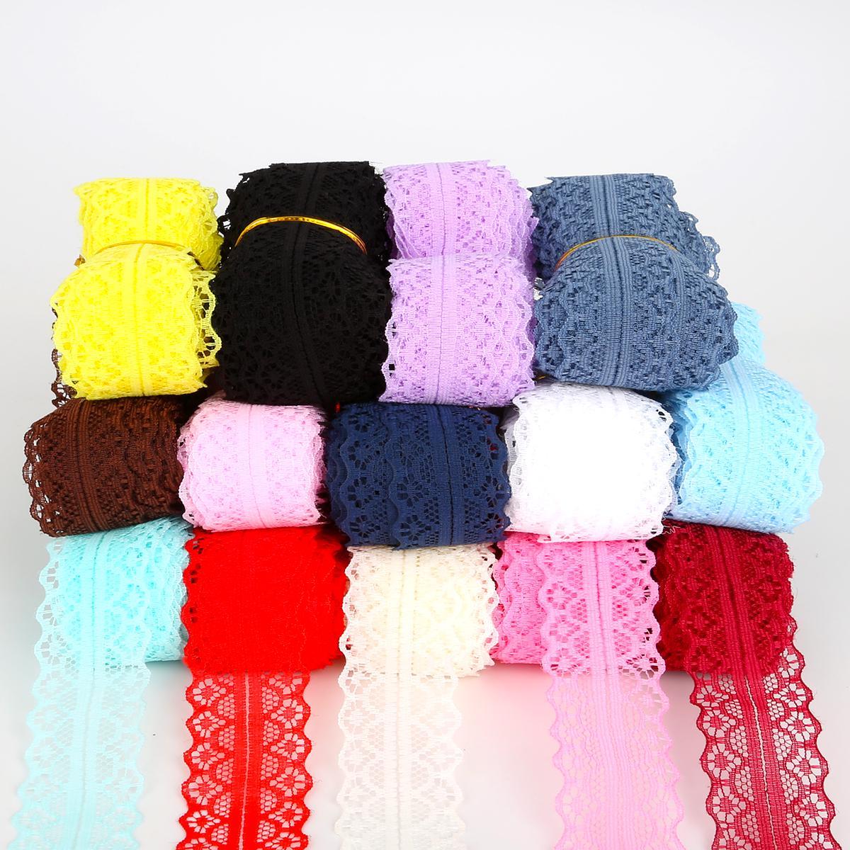 5Yard 2.8cm Кружева Trim Ткань DIY вышитые кружева обрезки для швейных аксессуаров украшения фото