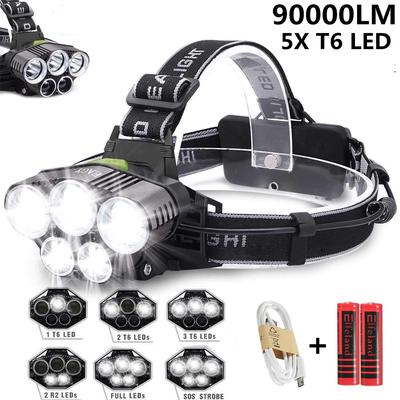 Third Gear Fishing Telescopic Headlamp Adjustable Camping Led Zoom Outdoor Lamp
