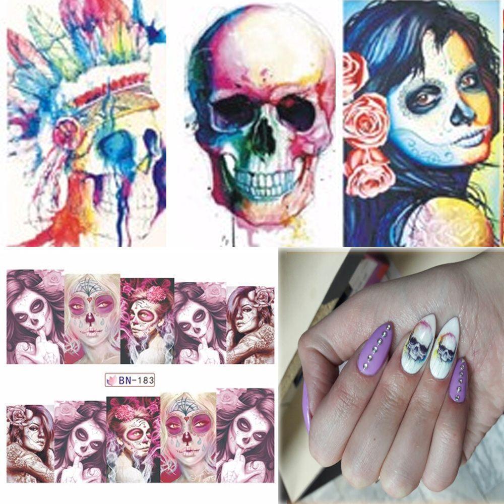 Famoso Cráneo Diseño De Uñas Cresta - Ideas de Diseño de Arte de ...