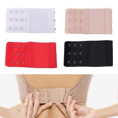 3 Pcs Women Bra Extender Bra Extension Strapless Underwear Strap 3 Hooks 2 Rows