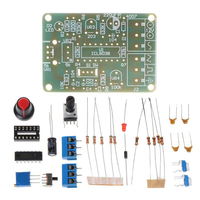 Icl8038 Signal Generator with functions Sine Square Triangle Wave
