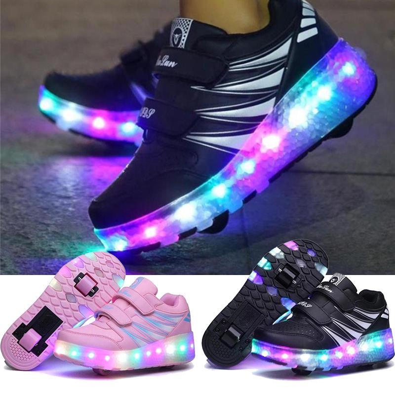Fashion LED Shoes With Wheels Mesh