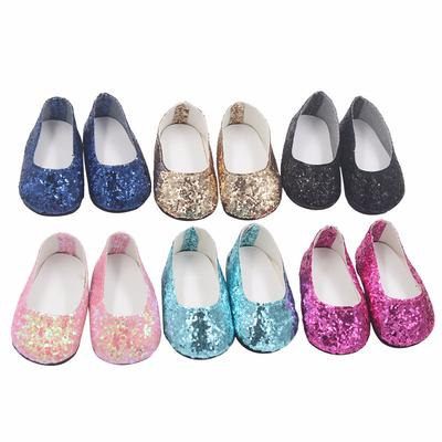 Multicolor Sequin Shoes Flats for AG American Doll 18 inch Girl Dolls Dress Up
