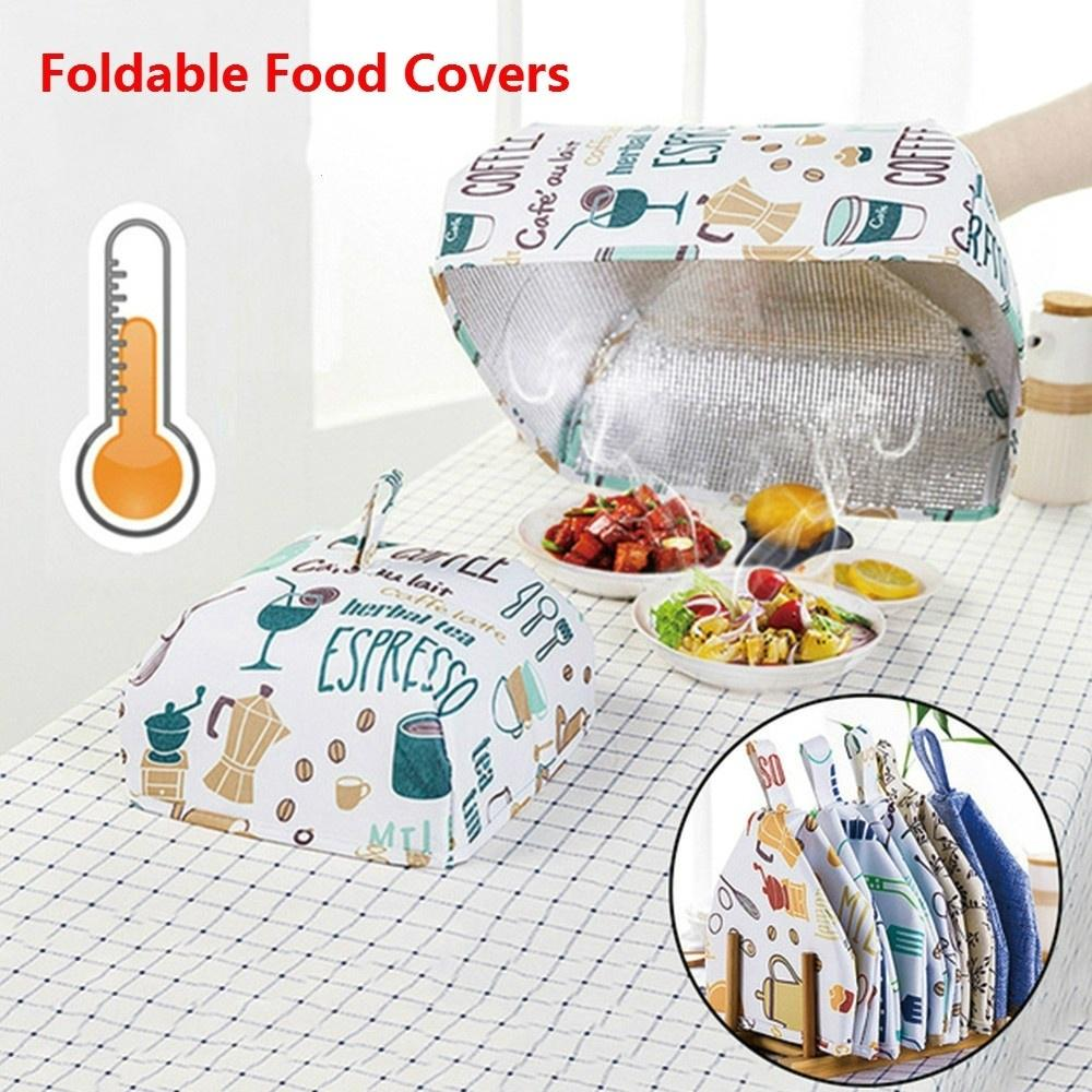 Details about  /Foldable Food Covers Keep Warm Hot Aluminum Foil Insulation Kitchen Dust Cover