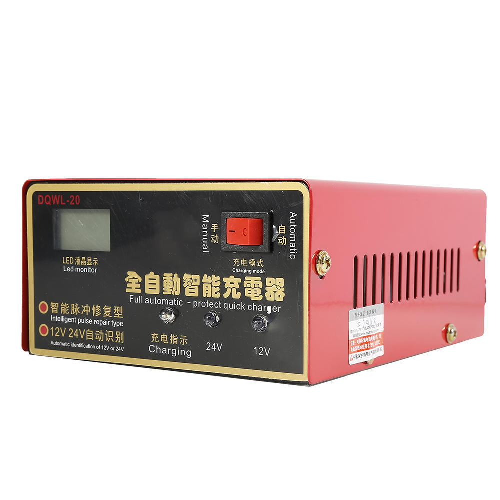 Motorcycle Car Lead Acid Battery Charger 12V//24V 10A 140W Full Automatically