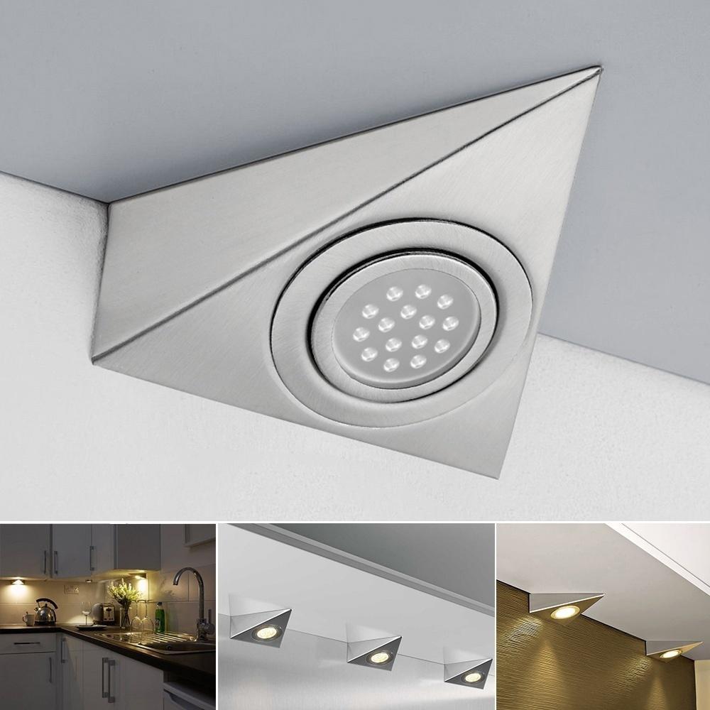 1/2pc LED Küche unter Schrank Schrank Dreieck Licht Kit-Cool Warm ...