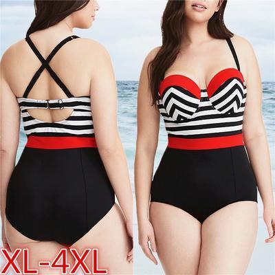 Lady Plus Size Hight Waist Bikini Tankini Boy Shorts Soild Print Push-Up Swimsut Beachwear Clearance Sale Women Monokinis Swimwear
