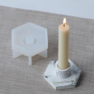 Zyl-yl Cobblestone Candlestick Silicone Mold Concrete Flowerpot Mould Handmade Cement Candle Holder Desktop Decoration