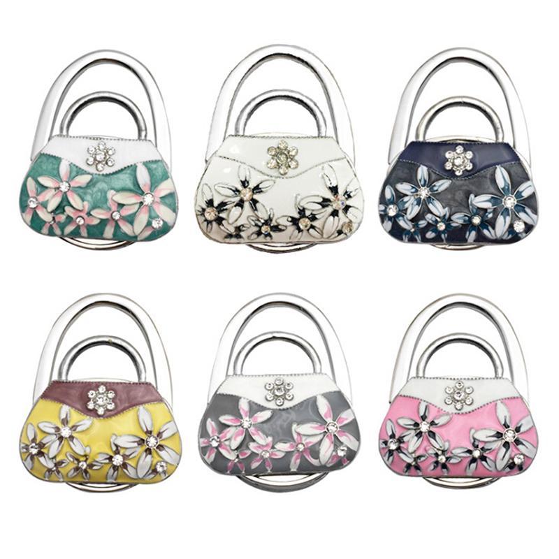 LUXUR Foldable Handbag Hanger Metal Folding Table Hanger For Women Purse Hook For Table Desk