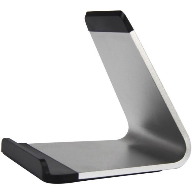 Holder stand for iphone bessky noble stylish aluminum tablet pc portable  silver