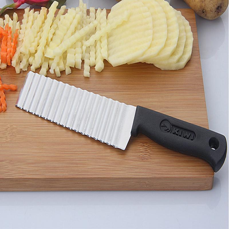 Картофельреза картофеля чип резак резак нержавеющей стали зубчатые лезвие фото