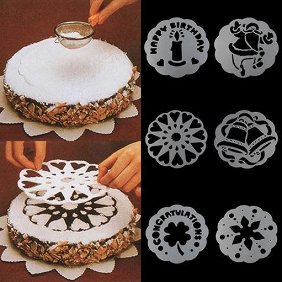6Pcs Maison Plastique Rond Festonné Cookie Pâtisserie Foundant Gâteau Couteau