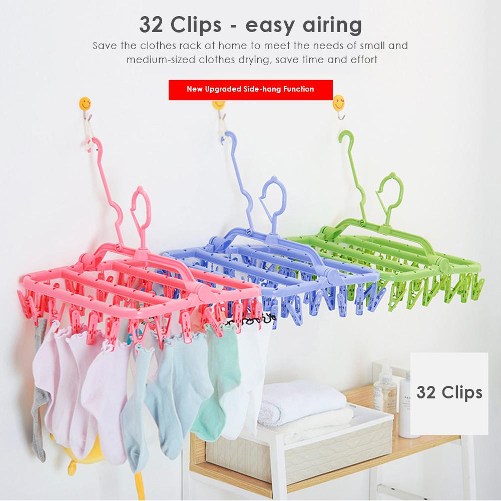 Multifunctional Drying Rack Clips Socks Underwear Laundry Airer Useful