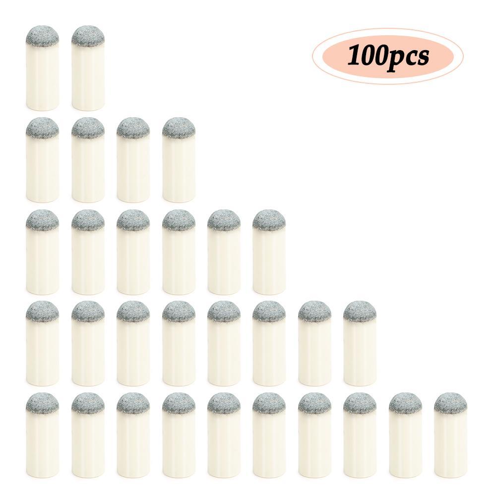 100X Slip-On Pool Cue Tips 9mm 10mm 12mm 13mm Billiard Push-On Cue Tips