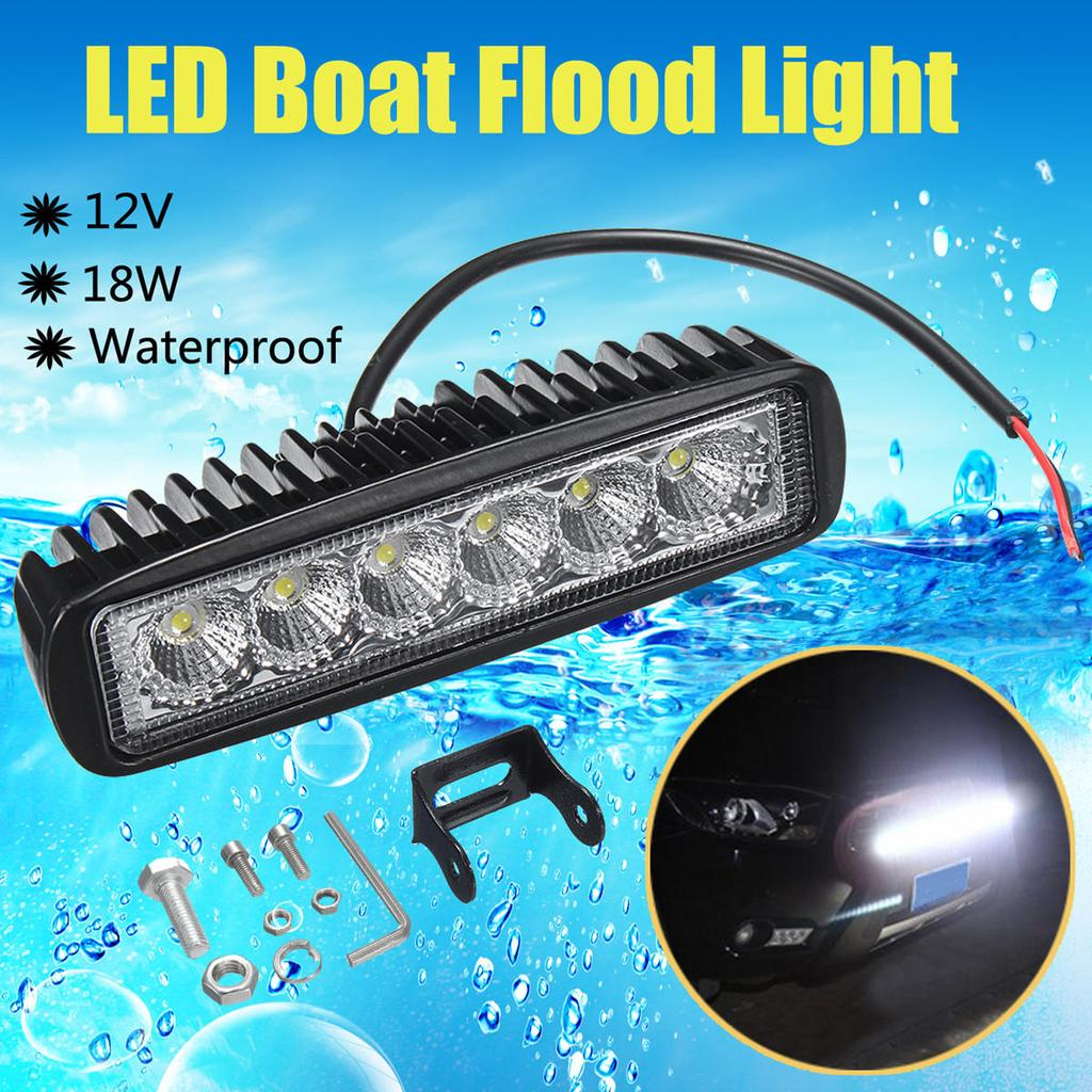 18w 12v 6 Led Waterproof Black Boat Yacht Flood Lights Car Cross Country Lamp Search Light Spotlight Buy At A Low Prices On Joom E Commerce Platform