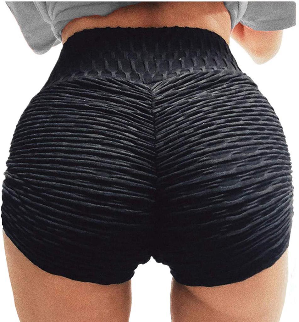 MoneRffi Womens Butt Shorts Workout Sports Short Gym Running Yoga Spandex Short Butt Lifting