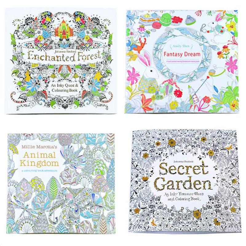 Edition Decompression Painting Coloring Book English Secret Children Picture Buy At A Low Prices On Joom E Commerce Platform