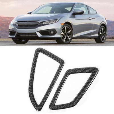 Inner Dashboard Side Air Vent Outlet Cover Trim 2pcs For Honda Civic 2016-2019