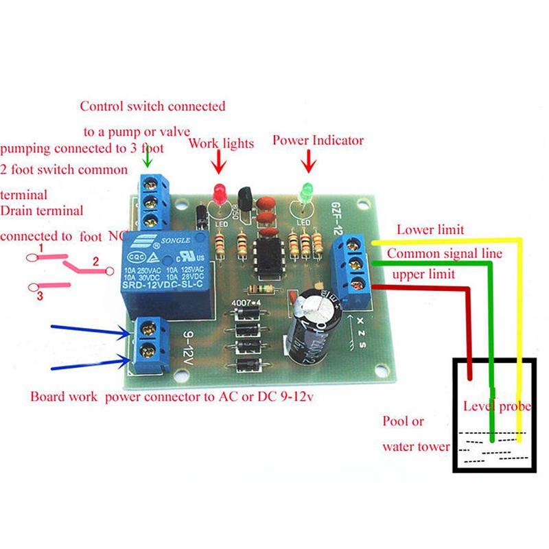 Маньи жидкости регулятор уровня датчика модуль обнаружения датчик уровня воды фото