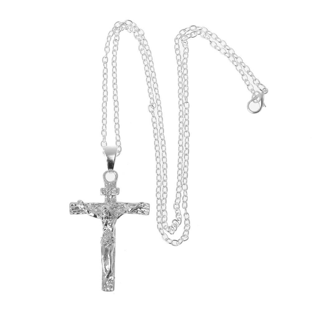 HAMANY Necklace,Mens Necklaces,Mens Cross Pendant Personality Titanium Steel Necklace Pendant