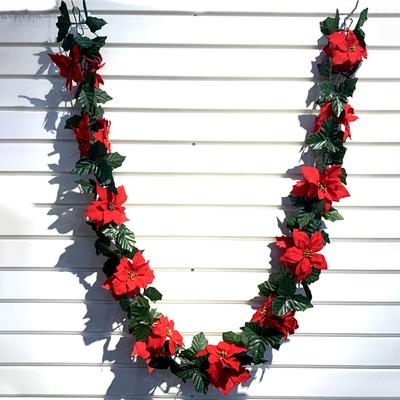 Buy Poinsettia Christmas Garland At Affordable Price From 29 Usd Best Prices Fast And Free Shipping Joom