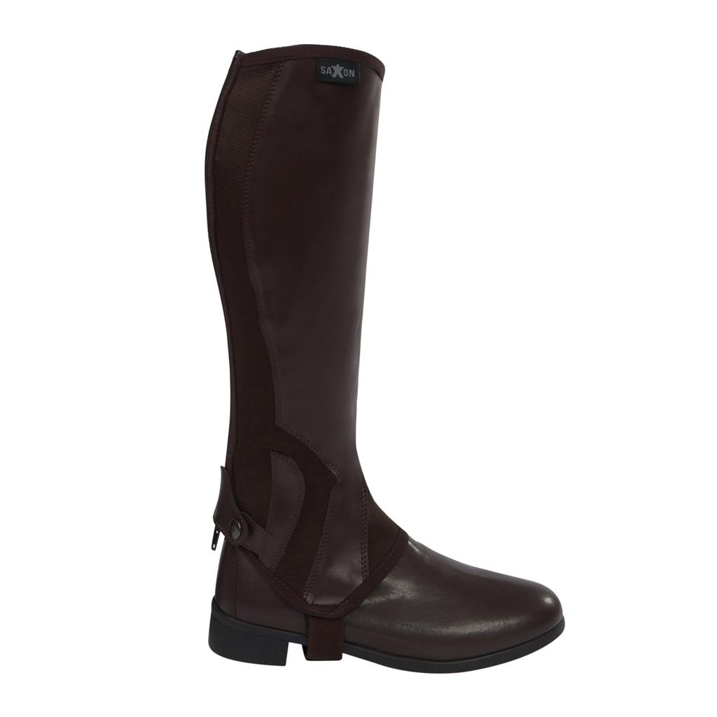 Saxon Equi-Leather Riding Gaiters Adults,All Sizes,Black or Brown
