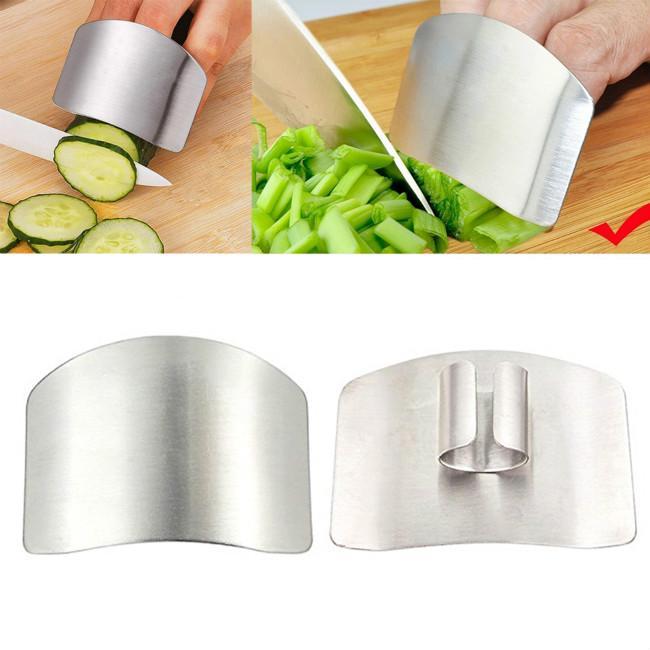 Couteau doigt Garde en Acier Inoxydable Chop Cut protecteur Safe Métal Main Garde Outil