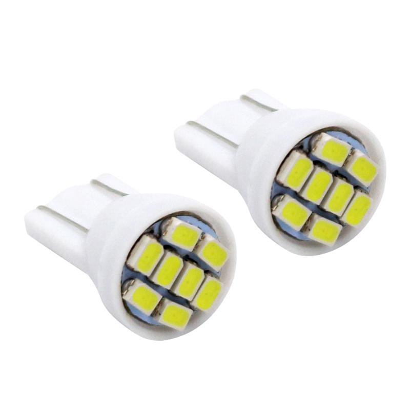 T10 W5W 194 168 501 Car White 8 LED 3020 SMD Wedge Side Light Bulb Lamp 10 pcs