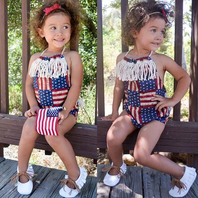 af5591429de13 Infant Baby Girl 4th of July Fashion Stars and Stripe Patriotic ...