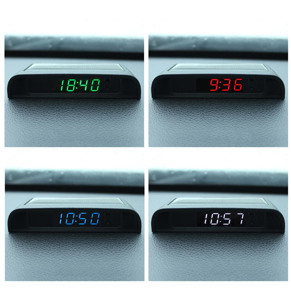 Solar Powered 24-Hour Car Clock Clearly Visible Day and Night Automatic Switch On and Off Shantanca Car Clock