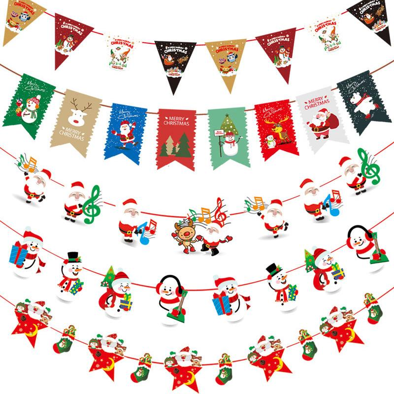270cm Paper Bunting Garland Banners Flags Christmas Banner Party Decoration