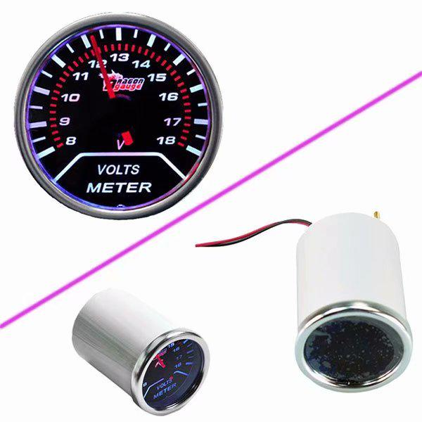 "Universal Car Motor Smoke Tint Len 2/"" 52mm Indicator Volt Voltage Gauge"
