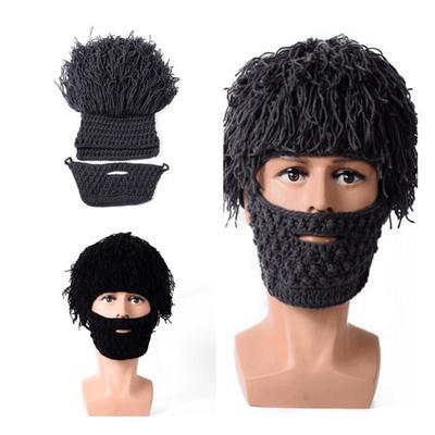 борода шляпа ручной вязаные парик купить по низким ценам в
