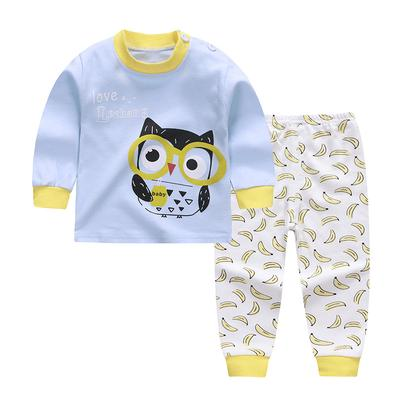 Christmas 0-4 Years Baby Toddler Long Sleeve Fashion Sleepwear Suits Coat Pyjama