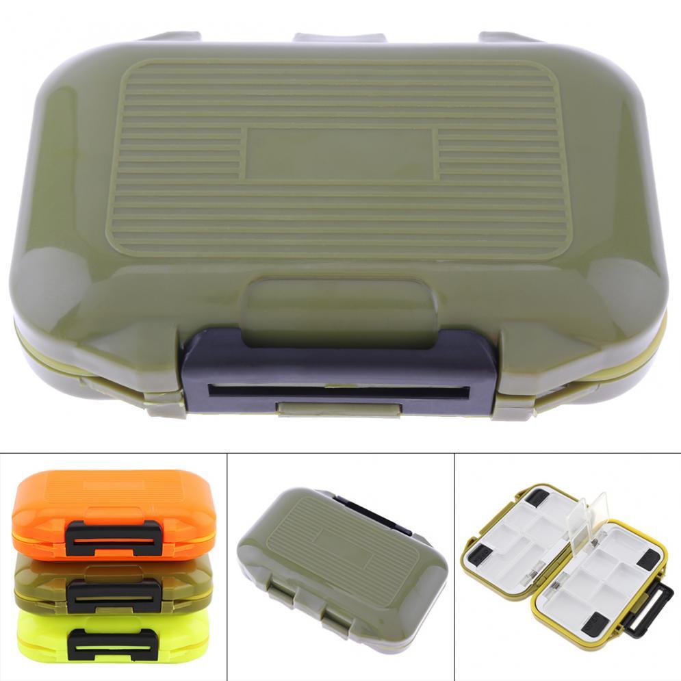 Mini Fishing Tackle Box Fish Lure Hook Bait Plastic Storage Holder Waterproof