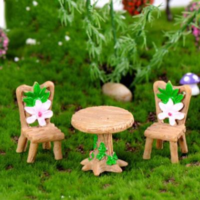 2pcs tea cup Resin Miniature Figurine Garden Dollhouse Decor Micro Landscape MW