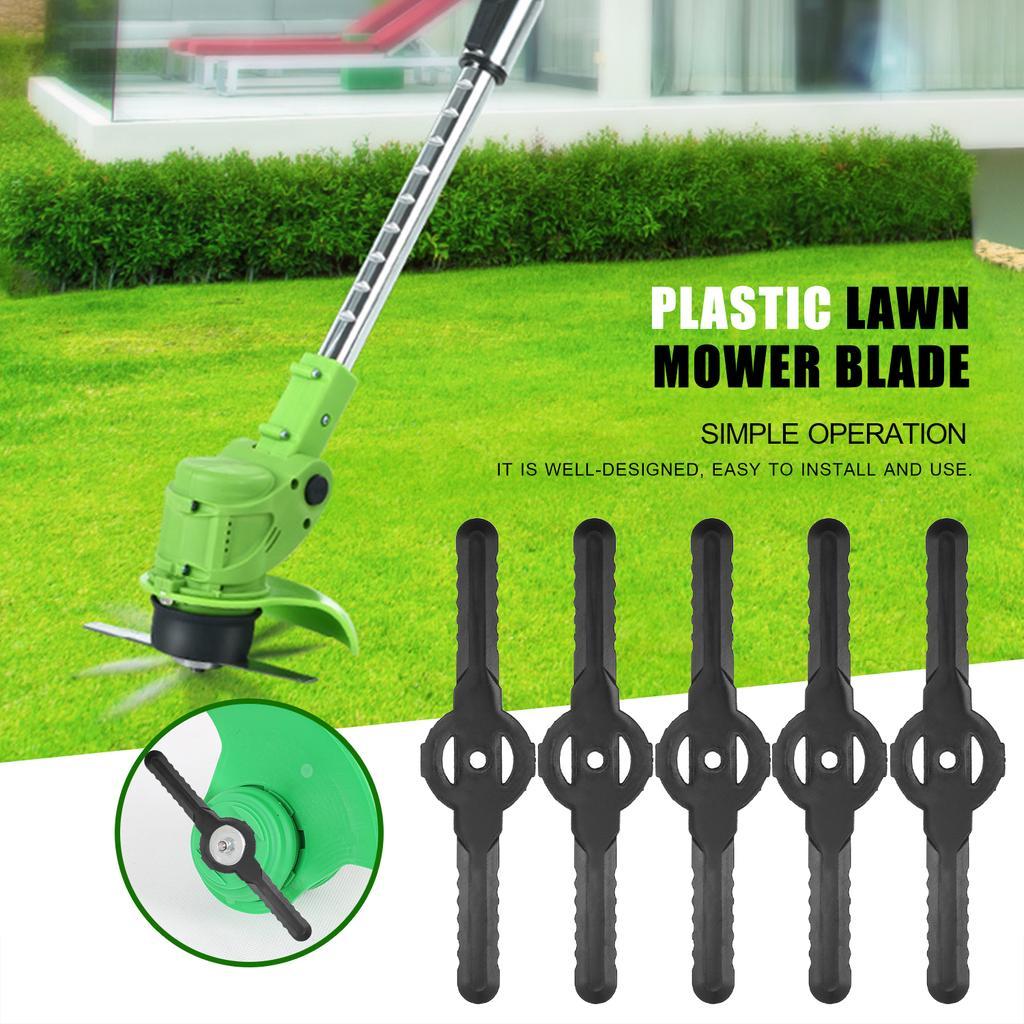50pcs Plastic Blade Cutter Replace For Cordless Grass Trimmer Strimmer Mower QK