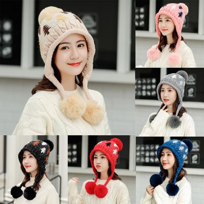 Skyflying Girls Winter Warm Knit Knitted Ski Cap Hat