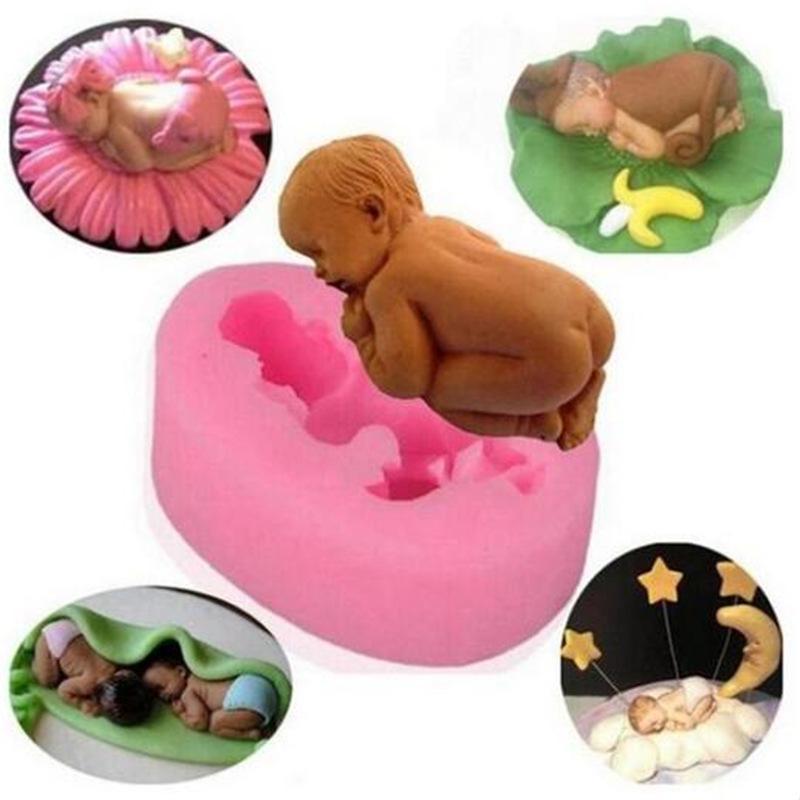 Силиконовые 3D помадной формы мило сна ребенка формы для украшения тортов фото