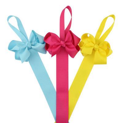 Kids-Girl-Hair-Bow-Grosgrain-Ribbon-Baby-Hair-Clip-Holder organizer to clip